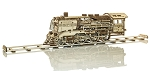 Wooden.City WR323 Wooden Express Locomotive Train plus Tender & Rails Motion Model Kit